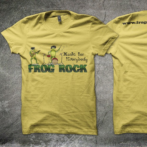 Frog Rock Music T-Shirt Design