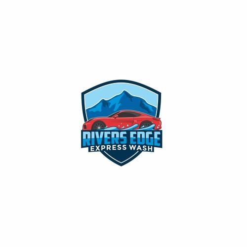 Rivers Edge Express Wash Logo