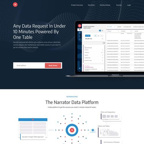 data automation Landing page