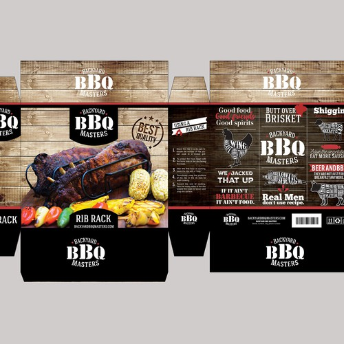 BBQ tools packaging