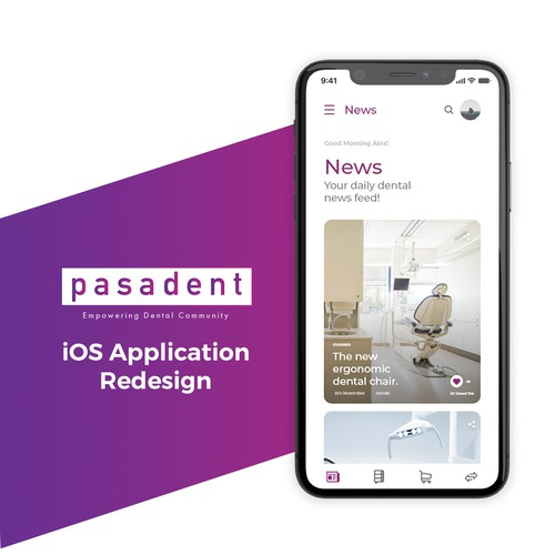 Professional Looking Mobile Application for Dental Community for PASADENT