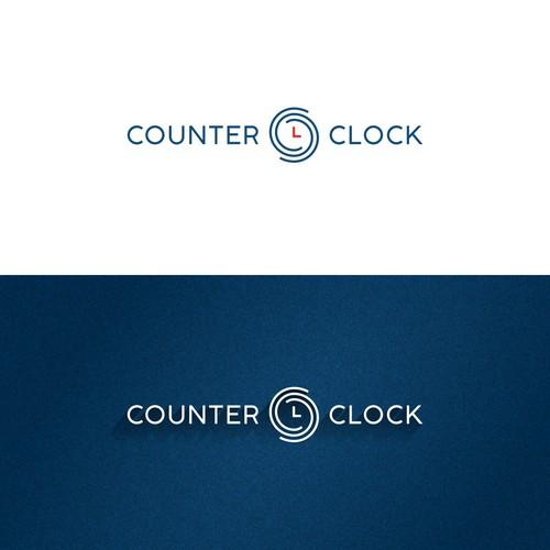 Counter Clock logo design