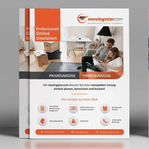 Clean Flyer design for Movingstar.com