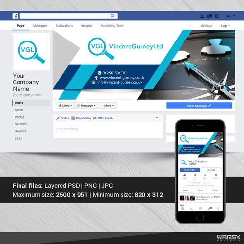 "Facebook  Cover for ""Vincent Gurney Ltd"""