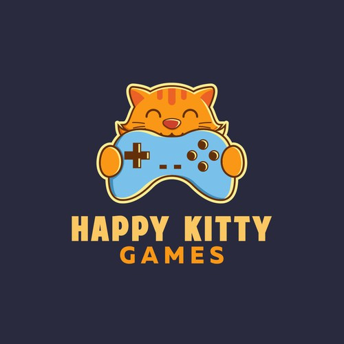 Happy Kitty Games Logo Concept