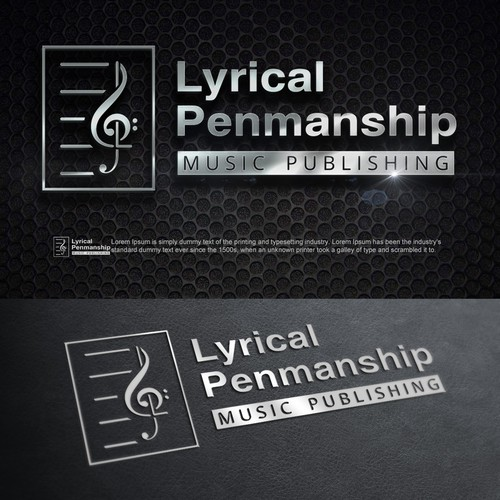 Creative logo concept for music publishing company