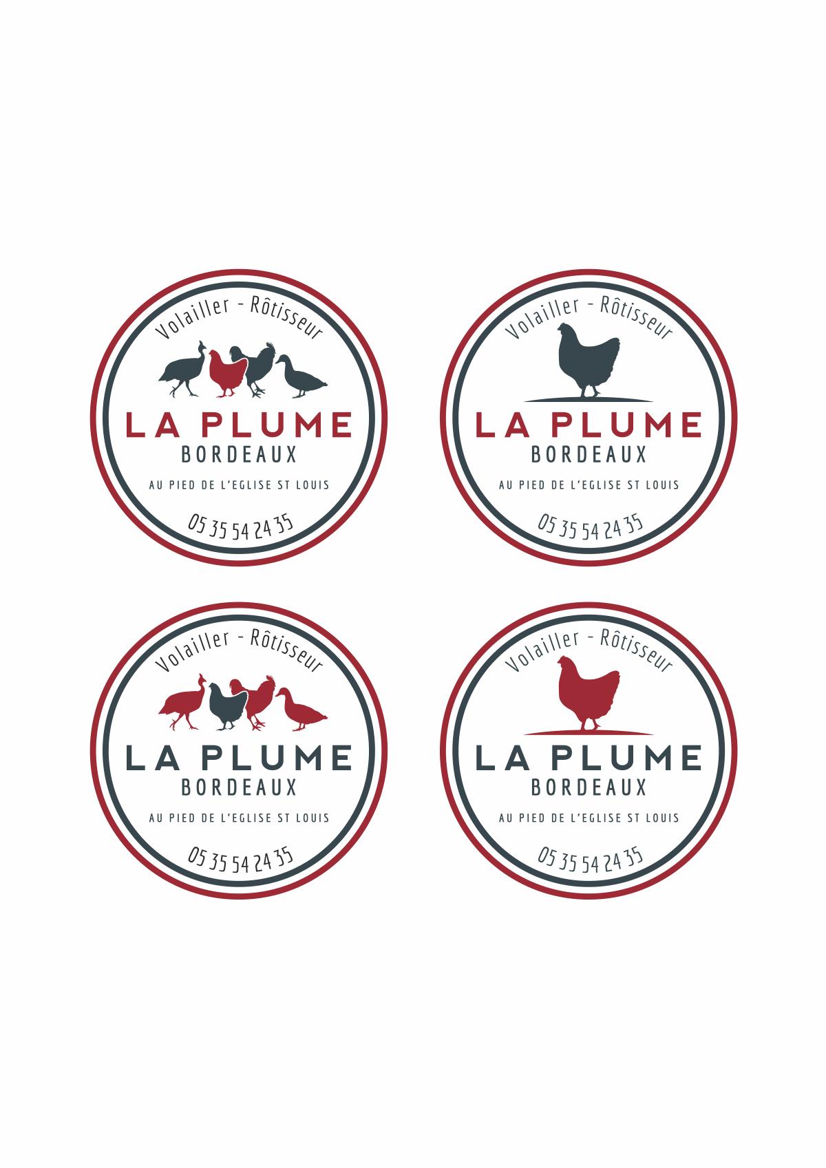 Small sticker for La Plume