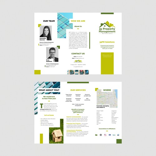 Tri fold design for real estate company