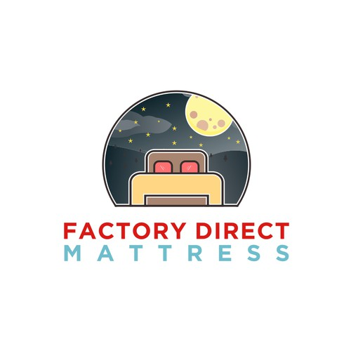 Logo Design Mattress view night