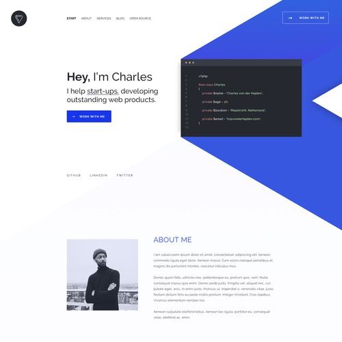 Website for a Web-Developer