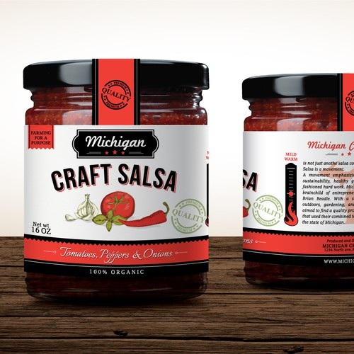 *** High end salsa maker, Michigan Craft Salsa, needs your talents to perfect our packaging! ***
