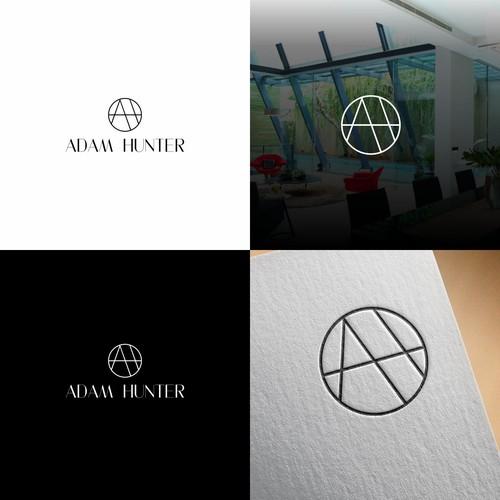Adam Hunter minimalist modern logo designs