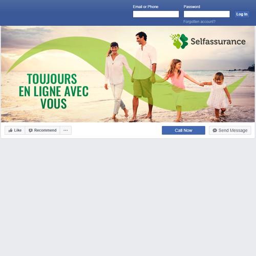 Créer une couverture facebook moderne pour www.self-assurance.com