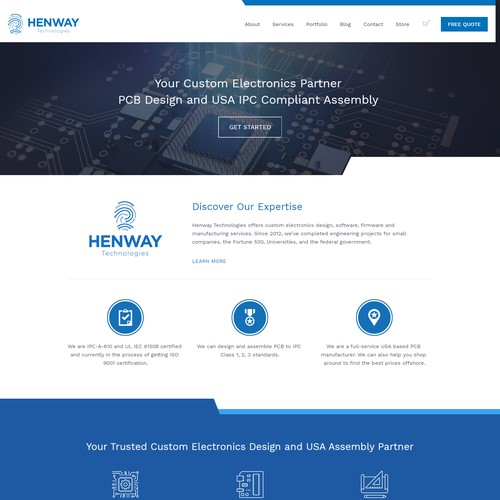 Squarespace website redesign for PCB Manufacturing Company
