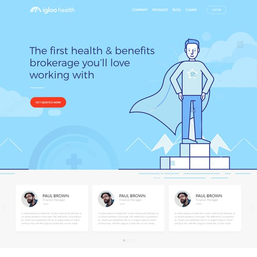 Innovative company website for Igloo Health