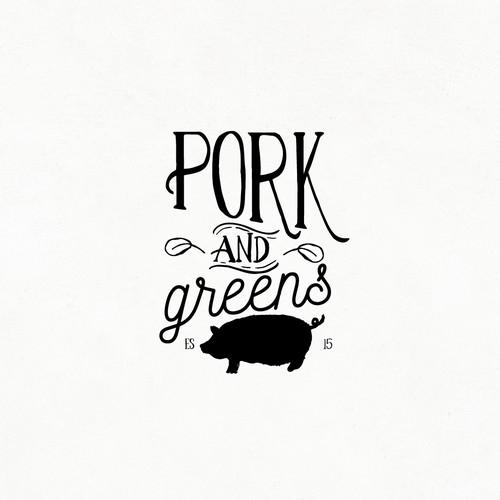 PORK AND GREENS LOGO