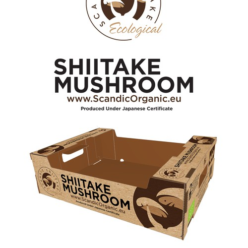 Tray Box Design for Scandic Shiitake