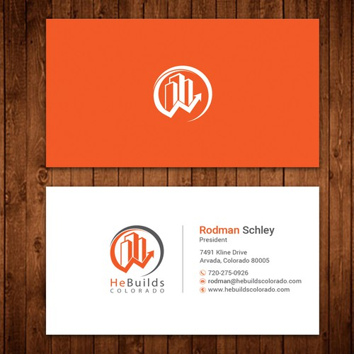 Design Business Cards for Upscale Construction Company