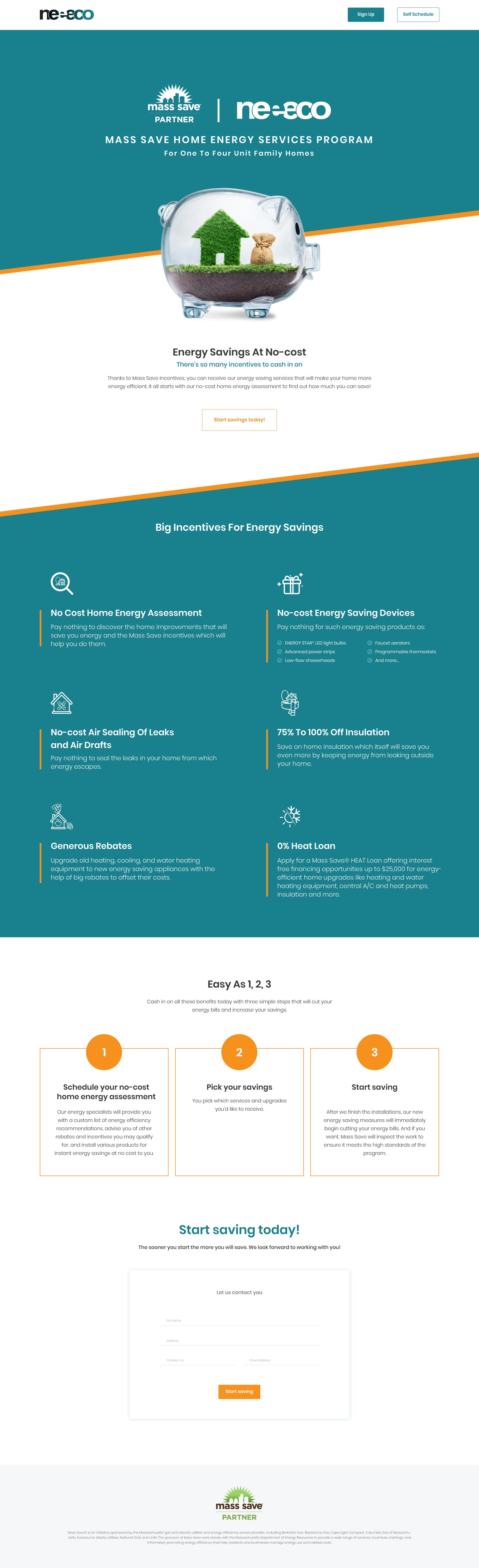 Partnership landing page templates