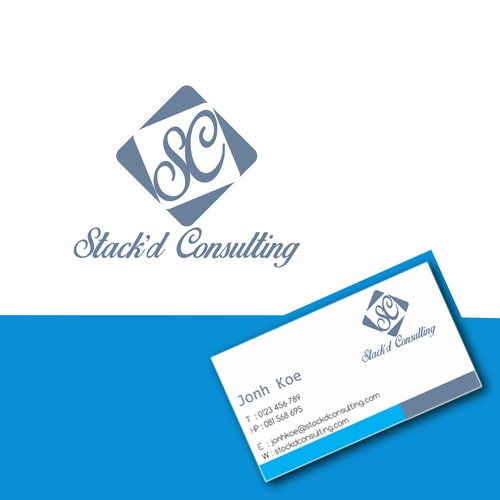 Vibrant, professional and modern logo and business card for a start up management consulting firm