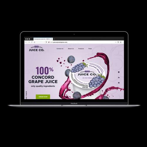 Beverage Website Design Concept
