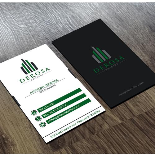 Derosa Builders Logo Design