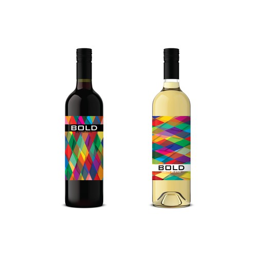 BOLD Wine product labels