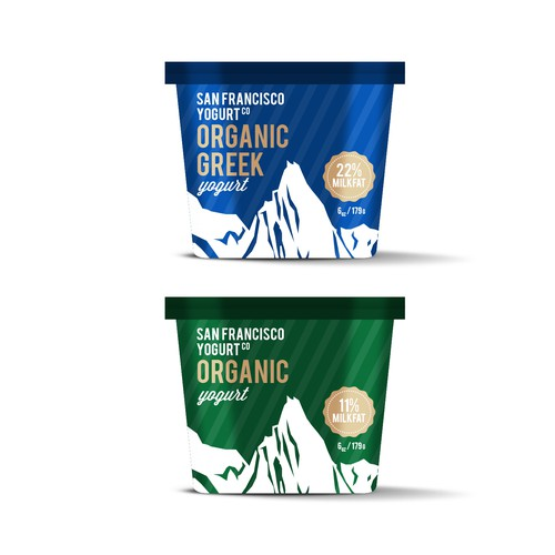 Design packaging for San Francisco Yogurt, maker of high-fat yogurt for adventurous people