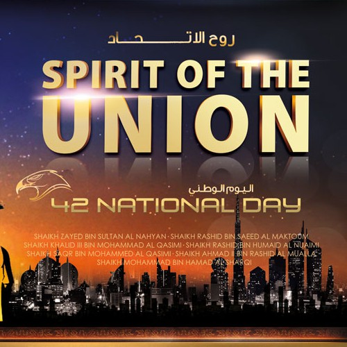 Create a badass illustration of the founding fathers of the UAE for National Day.