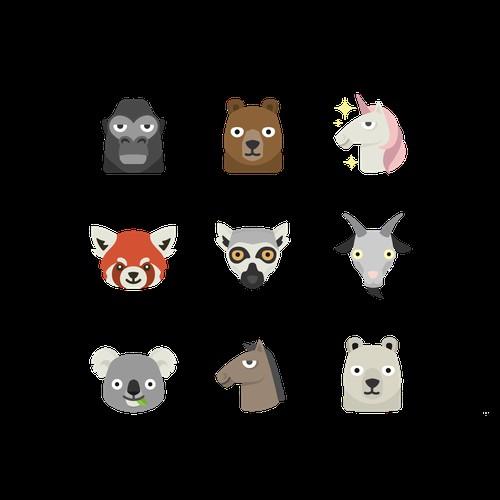 Animal emojis for mobile app