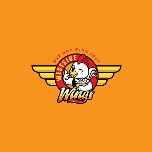 Chicken Wings Restaurant Logo