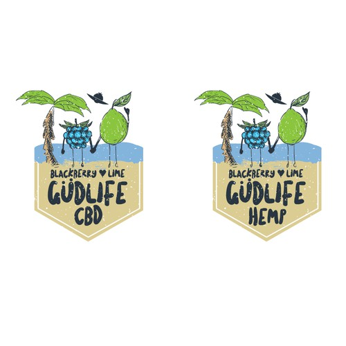 Logo design for GUDLIFE beverages
