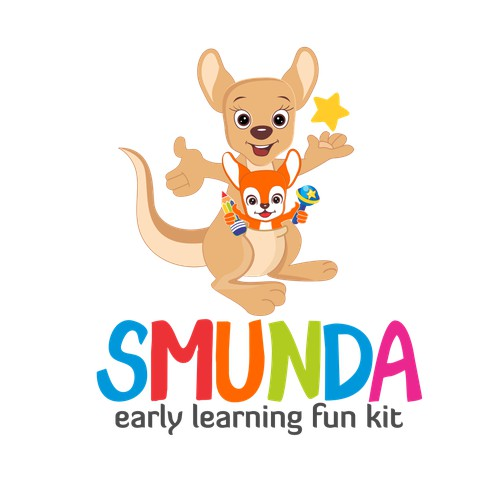 Design a fun logo for a new educational kids brand