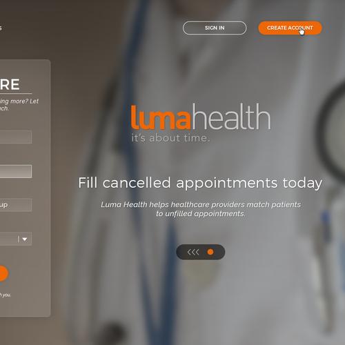LumaHealth webpage