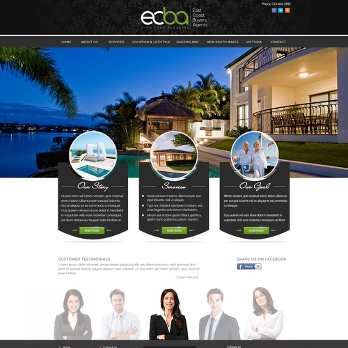 Help East Coast Buyers Agency with a new website design