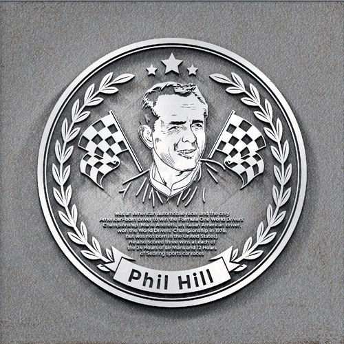 Phil Hill Walk of Fame Plaque