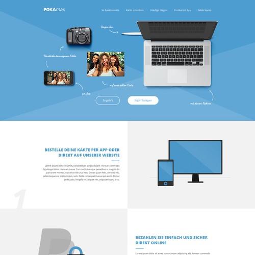 Webdesign for a Online Service