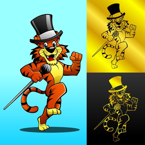 Tiger Mascot for Plumbing Bussiness