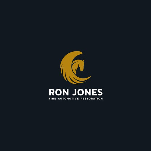 Bold logo concept for Ron Jones