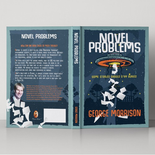Book cover design for Novel Problems by George Morrison
