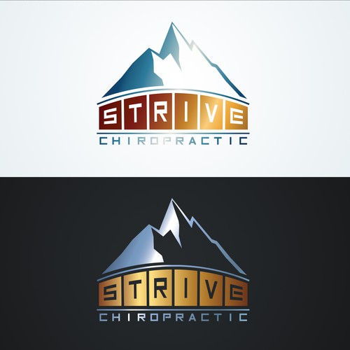Mountain logo for Strive Chiropratic