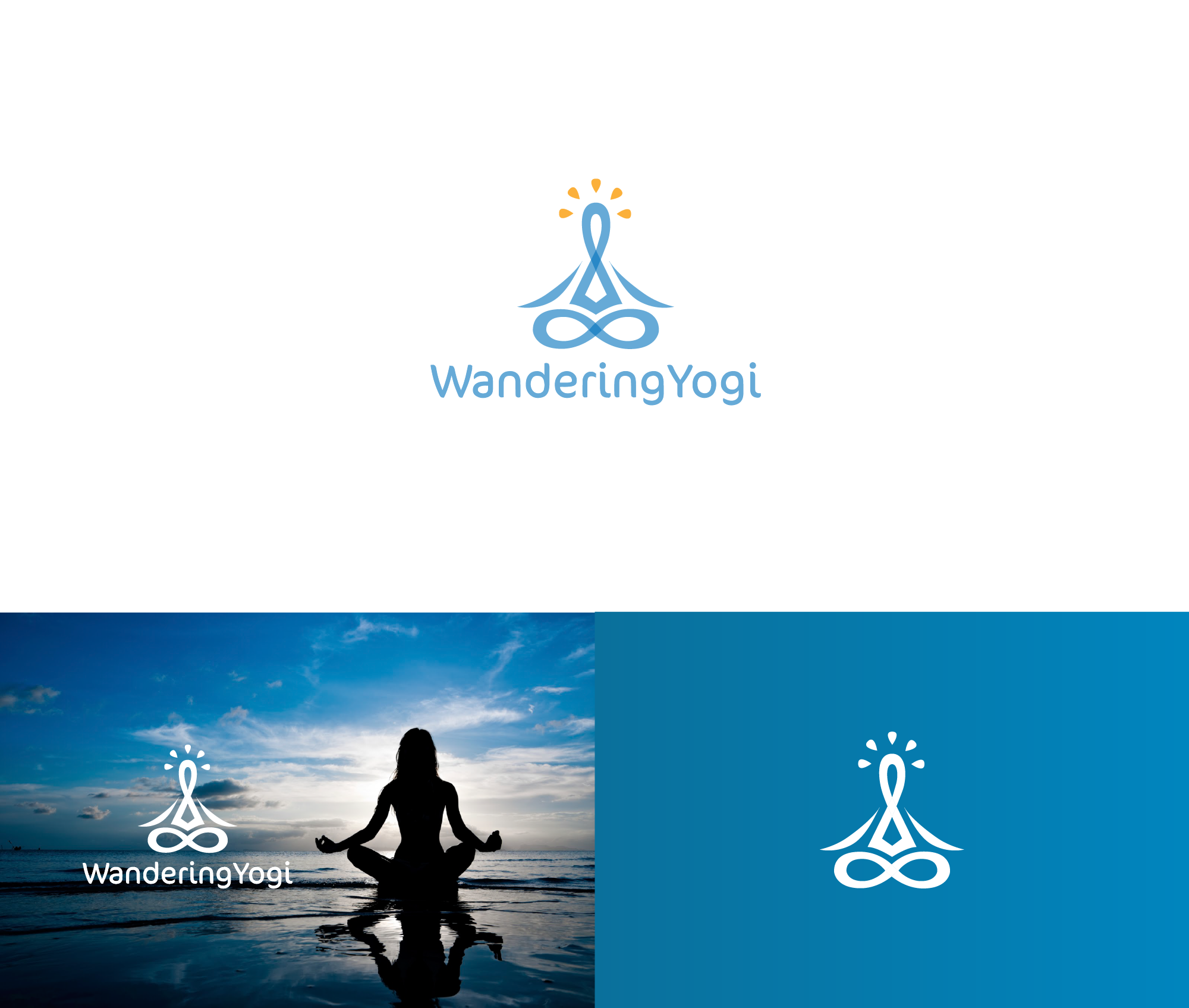 A brand identity pack for a Wandering Yogi