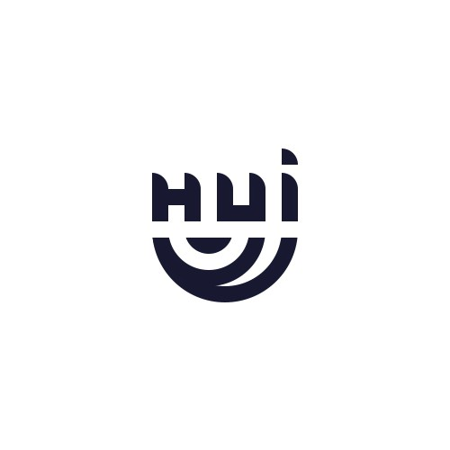 Minimal logo design for HUI