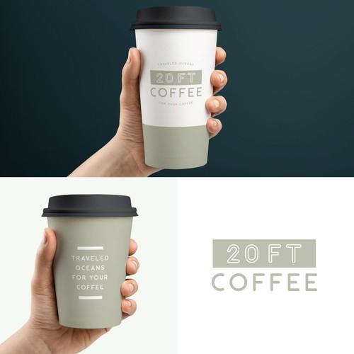 20ft Coffee Logo design