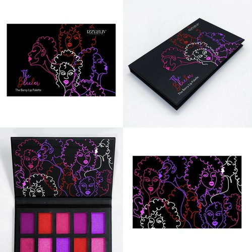 Lip color palette packaging
