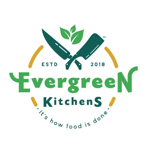 Organic logo for a new catering service
