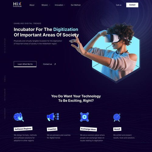 Homepage for Local Digital Agency