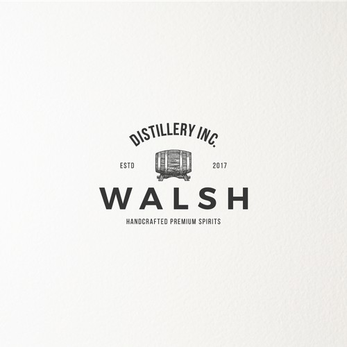 Logo for a distillery