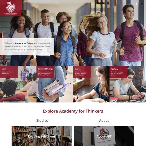 Web Design for Academy for Thinkers