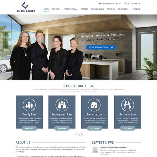 Web Page Design for Atorney & Law